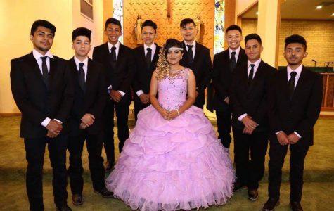 Freshman Iris Ponce Honored at Quinceneara