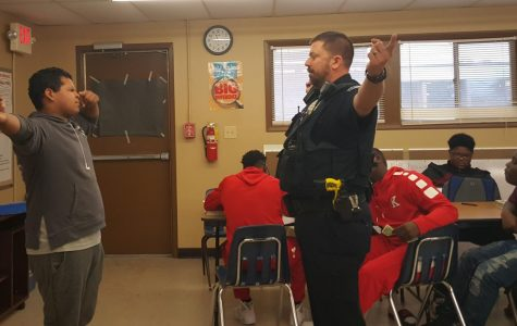 Officer Watkins Teaches Health Class Students the Detriments of Drunk Driving